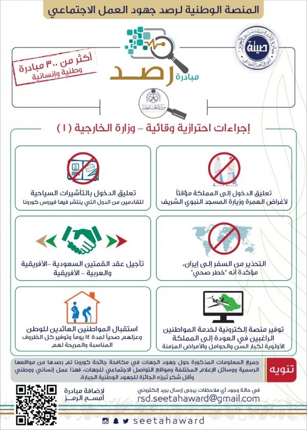 مبادرة رصد - اجراءات احترازية وقائية - وزارة الخارجية1
