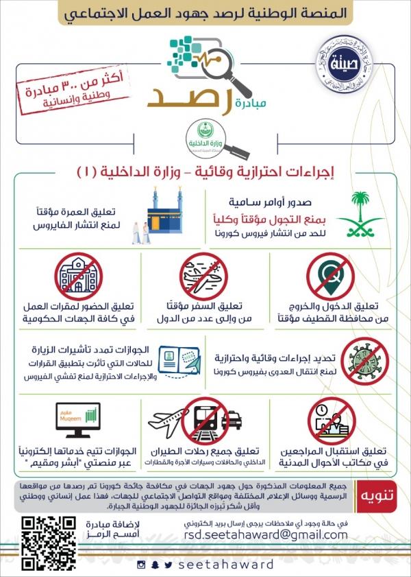 مبادرة رصد - اجراءات احترازية وقائية - وزارة الداخلية 1
